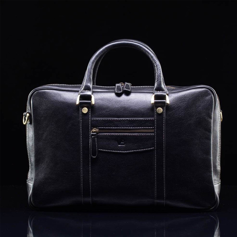 Leather Laptop Bag Black