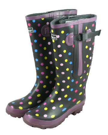 Extra Wide Fit Welly - Polka Dot