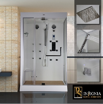 Luxury steam shower enclosure