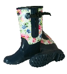 2tone Floral Extra Wide Fit Welly