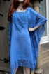 Ladies Italian Cotton & Lace Kaftan Dress