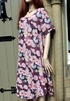 Ladies Italian Meshy Cotton Floral Loose Slip-on Dress