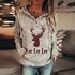 Graffiti Print Loose Hoodie - Sweatshirt Casual Retro Pullover Hoodies for Women