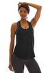 K-DEER Solid Black Relaxed Tank