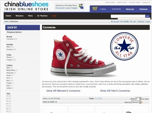 https://www.chinablueshoes.com/converse.html website