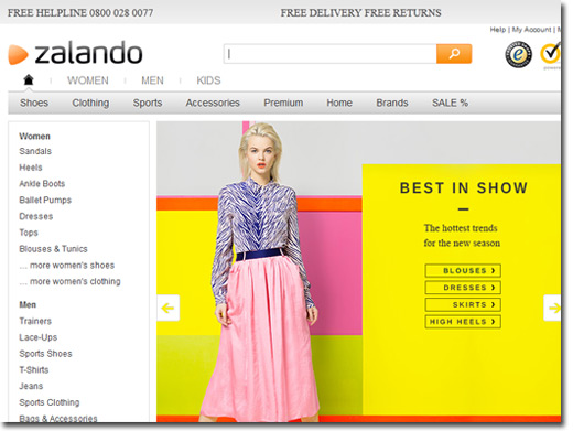 http://www.zalando.co.uk/ website