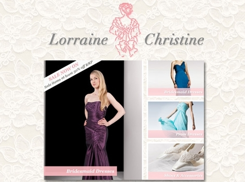 http://www.lorrainechristinebridal.co.uk/ website
