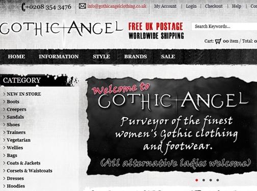 https://www.gothicangelclothing.co.uk/ website