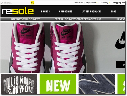 http://www.resole.co.uk website
