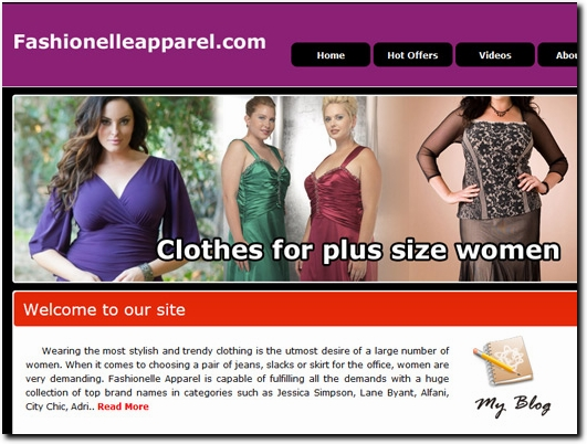 http://www.fashionelleapparel.com website