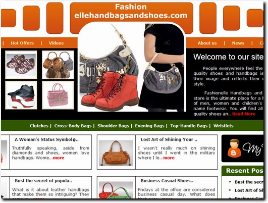 http://www.fashionellehandbagsandshoes.com website