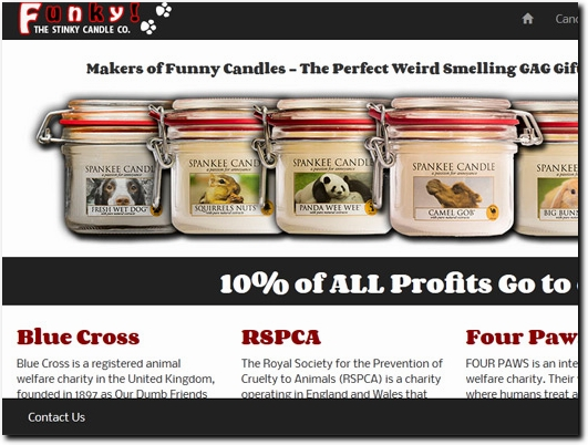 http://www.funkycandles.co.uk/ website